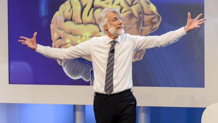 Erik Scherder tijdens een college van De Wereld Draait Door. Beeld Annemieke van der Togt