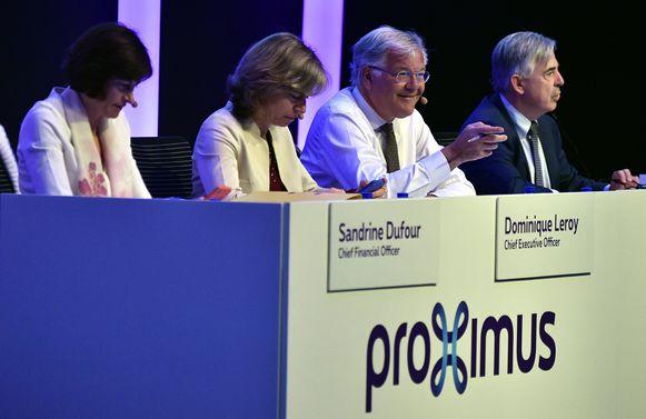 Sandrine Dufour, Dominique Leroy, Stefaan De Clerck en Dirk Lybaert.