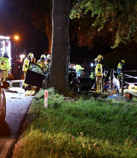 Zeven gewonden bij botsing met boom in Putten