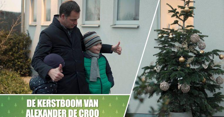 Kerstboom kijken bij... Alexander De Croo