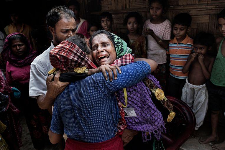 Beelden uit een opvangkamp voor Rohingya-vluchtelingen in Bangladesh, in november 2017.  Beeld null
