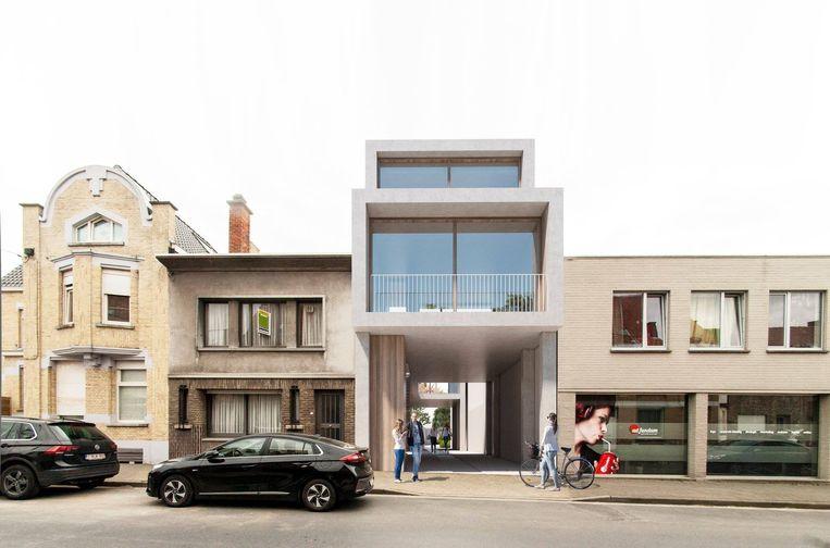 In de Sint-Blasiusstraat wordt nummer 11 gerenoveerd. Ernaast wordt een poortgebouw gerealiseerd.