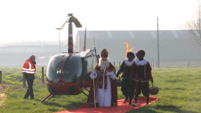 IN BEELD. Sint trekt met helikopter naar De Talententuin