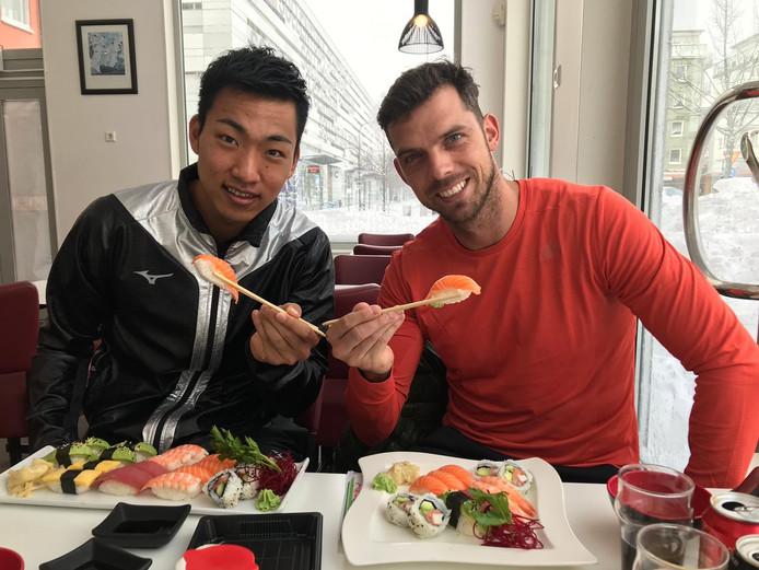 Eelco Sintnicolaas traint twee weken lang een Japans meerkamptalent.