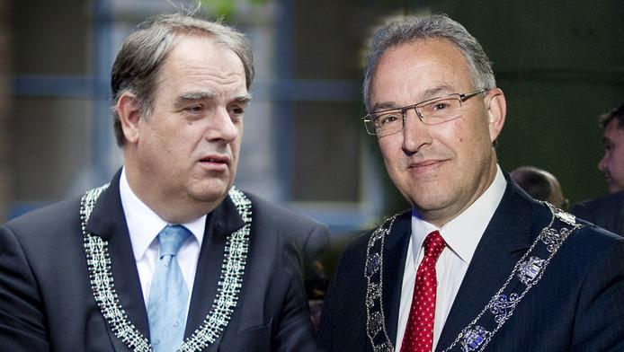Bas Verkerk (links) van Delft en de Rotterdamse burgemeester Ahmed Aboutaleb.