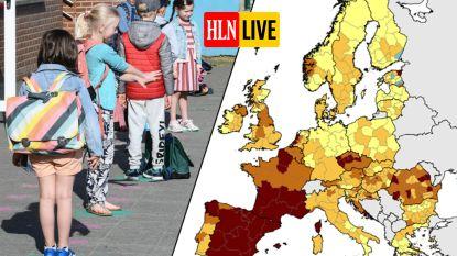 """LIVE. België kleurt weer donkerder op Europese coronakaart - Nederlandse premier waarschuwt voor tweede golf: """"Gevoel van noodzaak moet terug"""""""