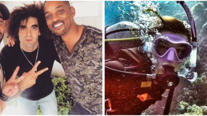 SHOWBITS. Adil en Bilall nemen selfie met Will Smith en deze BV behaalde haar duikbrevet