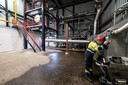 De reactorruimte van de luierverwerkingsinstallatie in Weurt.