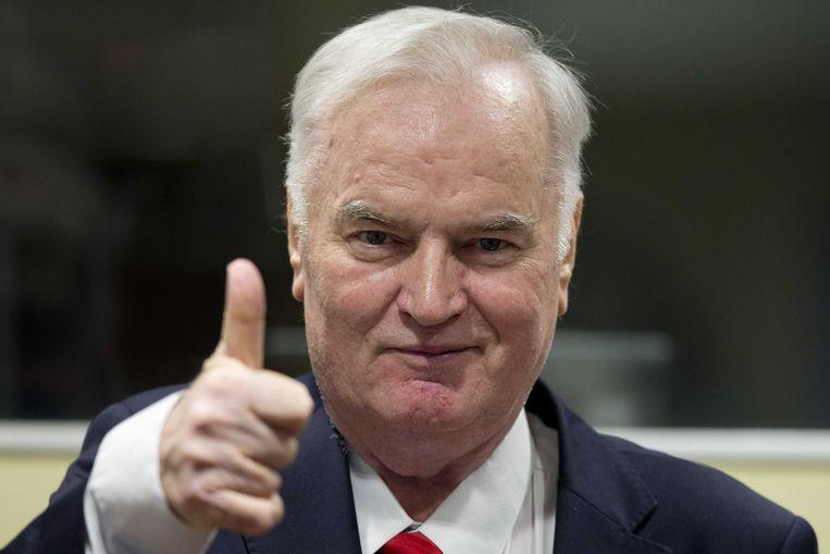 'Opa Ratko houdt van jullie', sprak Mladic tegen zijn zoon in de studio en de kijkers.