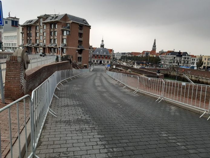 De boulevard in Vlissingen was al afgezet.