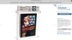 Nieuw verpakt Super Mario Bros. is met meer dan 100.000 euro duurste videospel ooit