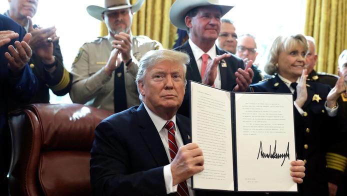 Donald Trump, à la Maison blanche, ce 15 mars.