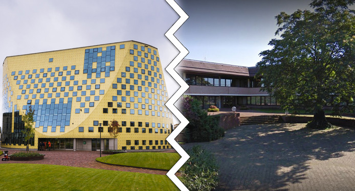 Gemeentehuis Hardenberg en het gemeentehuis in Ommen.