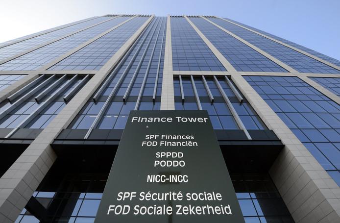La Tour des Finances, dans le centre de Bruxelles.