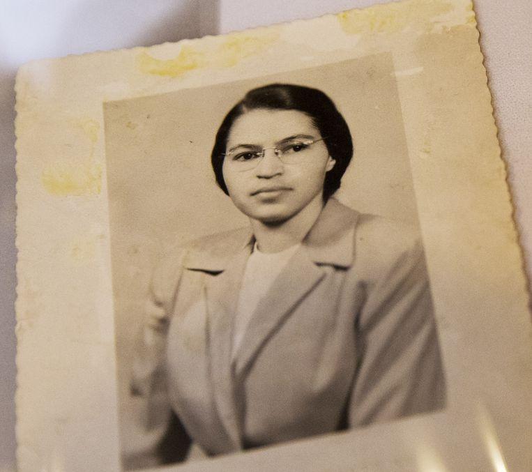 Rosa Parks rond het jaar 1950.
