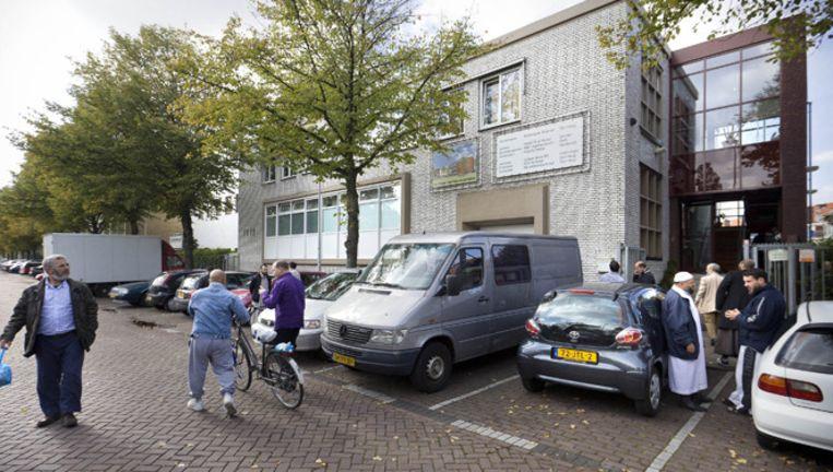 Exterieur van de As-Soennah moskee in Den Haag waar de Angolese Nederlander werd uitgezet. Beeld ANP