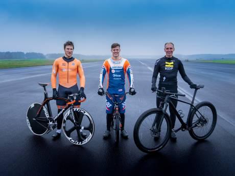 Wie is het snelst: de mountainbiker, BMX'er of de baanwielrenner?