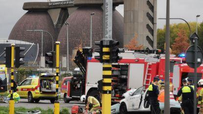 Antwerpse Noordersingel afgesloten na zwaar ongeval met politievoertuig