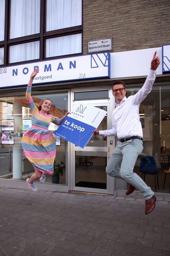 Norman en Annelore Velghe hebben Vastgoed Norman geopend in Kuurne.