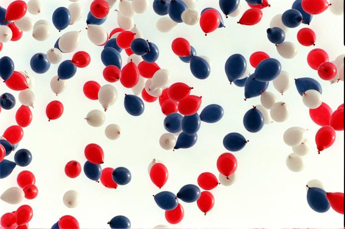 Ballonnen oplaten.
