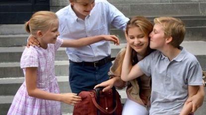 Royals nemen afscheid van prinses Elisabeth