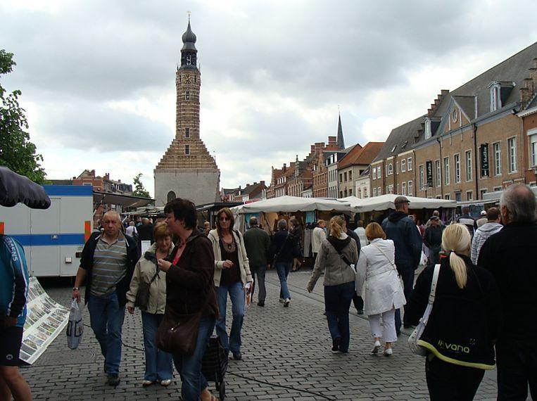 Illustratiebeeld van de vrijdagmarkt in Herentals.