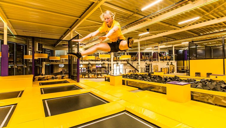 Jumpsquare heeft drie pijlers: lol, sport en teambuilding Beeld Eva Plevier