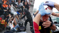 Pure chaos door massaal protest van separatisten in Catalonië: zeker 50 gewonden