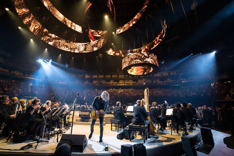 Metallica met het San Francisco Symphony-orkest. Beeld Brett Murray