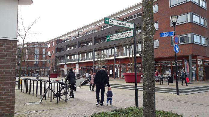 Winkelcentrum De Hovel, te zien vanaf de Kalverstraat.