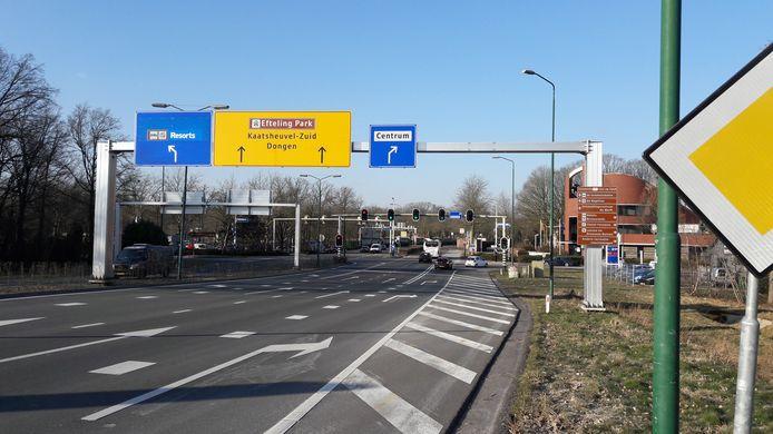 De kruising van de Europalaan met de Horst in Kaatsheuvel.