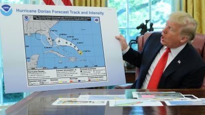 """""""Trump foefelt met kaart om zijn gelijk te halen over koers van orkaan Dorian"""""""
