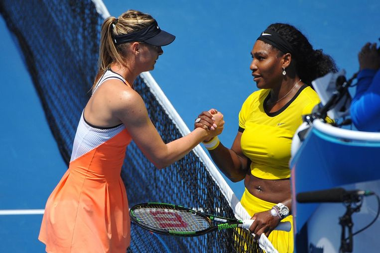 Serena Williams en Maria Sharapova.