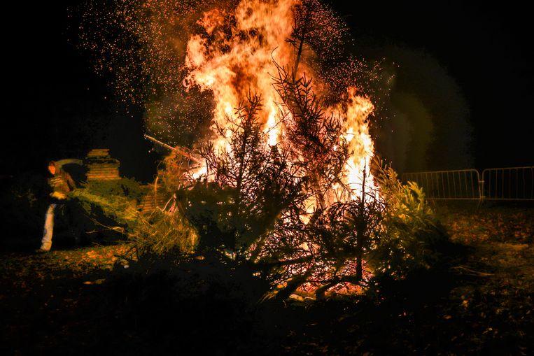 Kerstboomverbranding Lummen