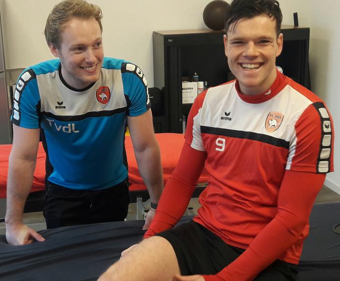 Tom van der Linden met Jupiler League-topscorer Tom Boere van FC Oss.