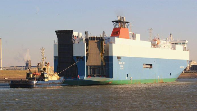 Archieffoto van de Baltic Ace. Het schip is gezonken na een aanvaring met een ander schip op de Noordzee, ongeveer 100 kilometer uit de kust ter hoogte van Rotterdam.