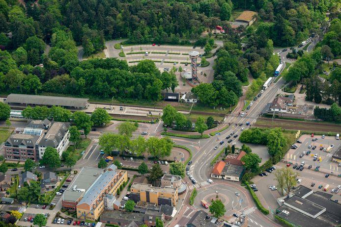 Het stationsgebied in Nunspeet.