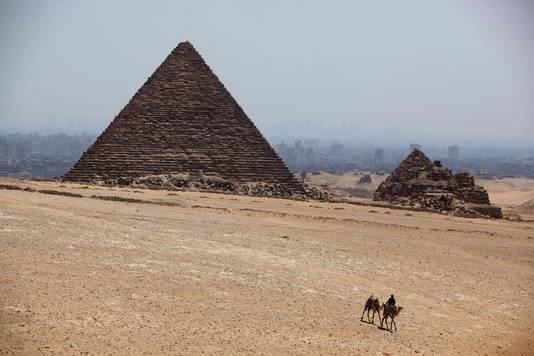 De piramides bij Gizeh