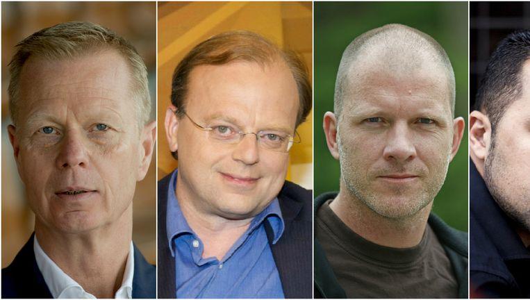 Van links naar rechts: Arno Vermeulen, Paul Jansen, Maxim Hartman, Özcan Akyol, Peter R. de Vries. Beeld ANP