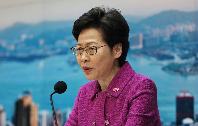 Carrie Lam, leider van de stadstaat Hongkong.