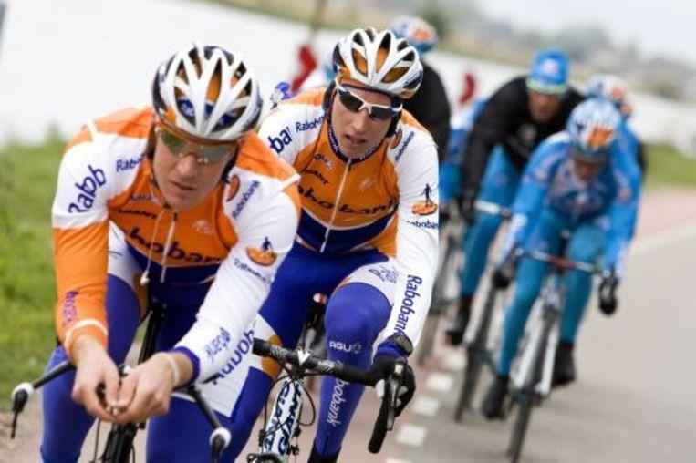 De Raborenner Rick Flens (L) verschijnt als eerste Nederlander aan de start van de Giro. ANP Beeld