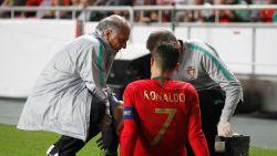 FT buitenland. Ronaldo valt geblesseerd uit bij Portugal, Juventus houdt hart vast - Afhaken Messi zet kwaad bloed in Marokko - EK-mascotte voorgesteld