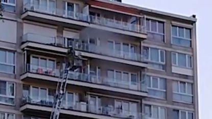 VIDEO. Brandweer redt kat van terras aan brandende flat op 30 meter hoogte