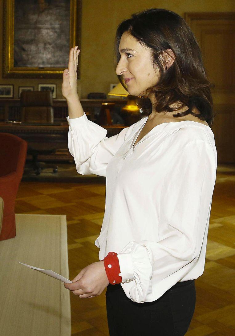 Staatssecretaris Zuhal Demir bij haar eedaflegging gisteren.