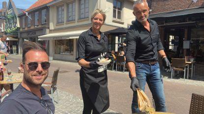 """Vlamingen met brasserie in Sluis ontvangen meteen een pak landgenoten op eerste openingsdag: """"Het voelt als een eerste schooldag, maar dan een hele plezante"""""""