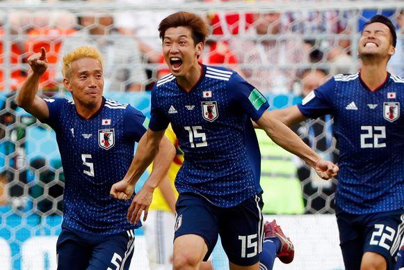 Yuya Osako (midden) scoorde de winninggoal.