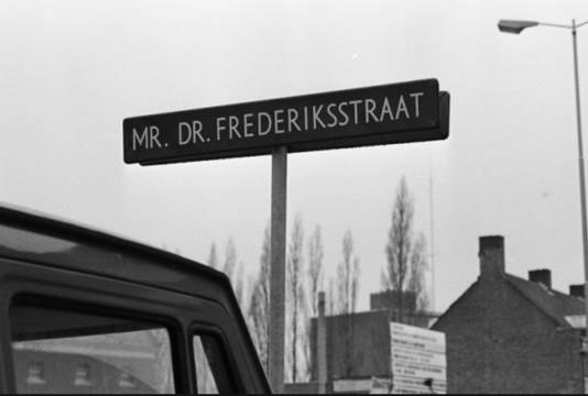De Mr. dr. Frederikstraat in Breda, nu de Concordiastraat.