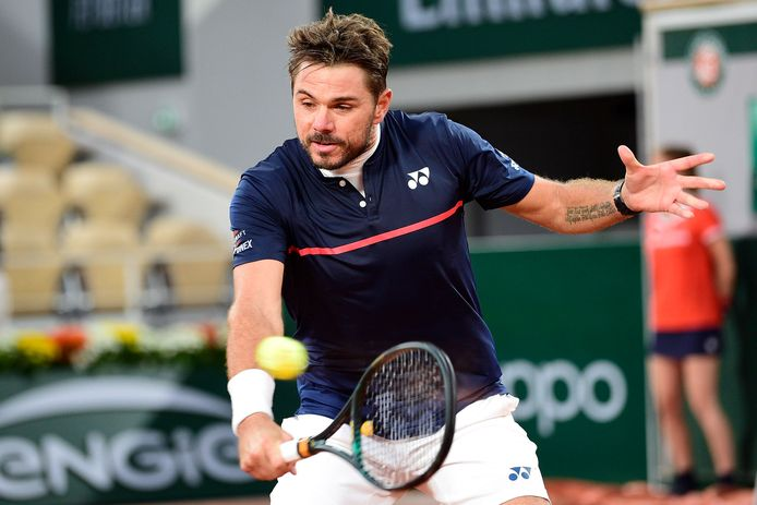 Stan Wawrinka in actie op Roland Garros vorig jaar.