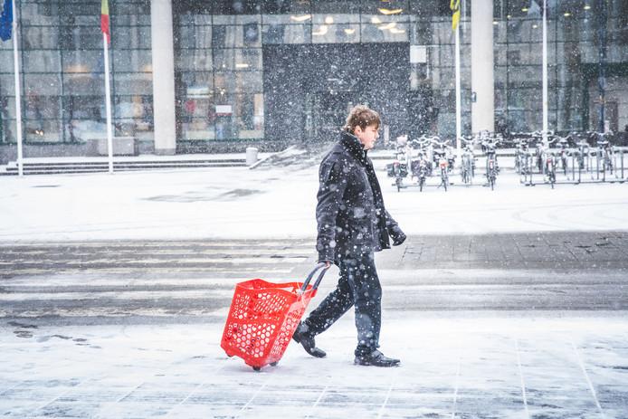 Sneeuw in Gent