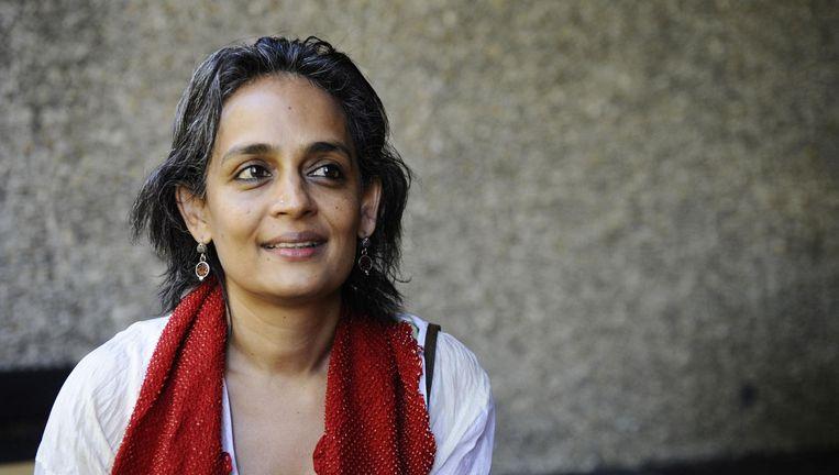 Arundhati Roy in 2009. Beeld afp